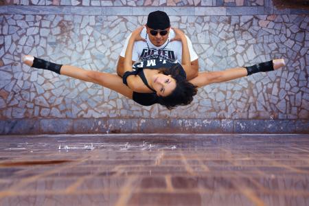 城市芭蕾舞,舞蹈,城市,家伙,女孩,麻线