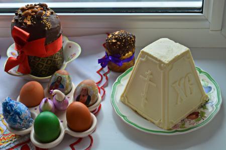 照片组成,复活节,蛋糕,鸡蛋
