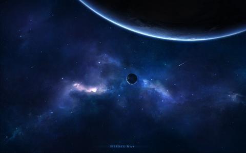 行星,恒星,彗星,星云,空间