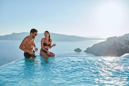 人,照片,休息,希腊,照片,池,积极,心情