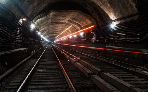 铁轨,隧道,地铁,方式