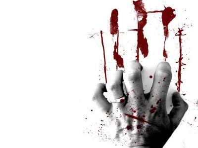 血,手,印记,痛苦