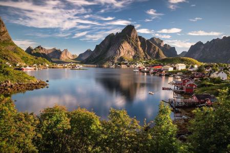 挪威,雷讷,性质,山,美丽