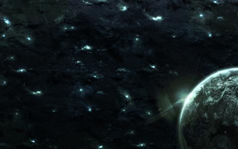 星球,空间,空间,星系,光,星星,星系,行星