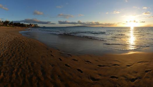 海岸,美国,海,景观,海洋,夏威夷,海滩,毛伊岛,性质