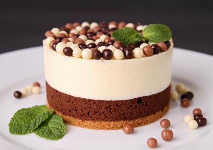 甜,糕点,蛋糕,甜点,巧克力,球