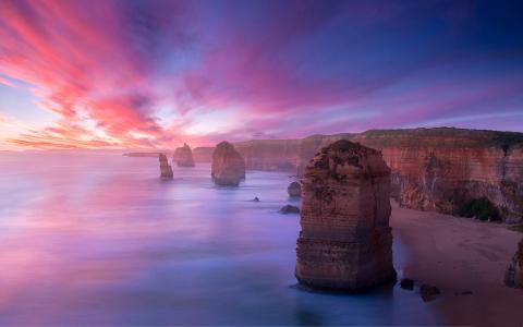 山,礁石,岸边,沙滩,岩石,岩石,海岸