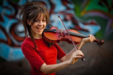 林赛·斯特林,小提琴,林赛·斯特林,女孩,小提琴手