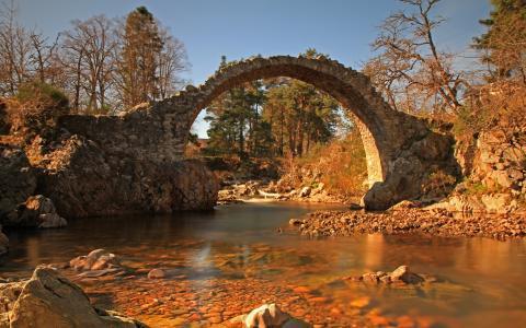 河,大自然,桥梁