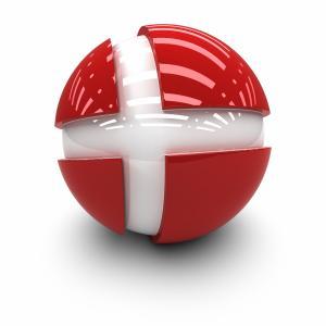 丹麦,3d,球