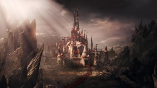 爱丽丝梦游仙境,军队,童话故事,城堡