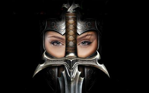 女孩,剑,邪教王国的异端,头盔
