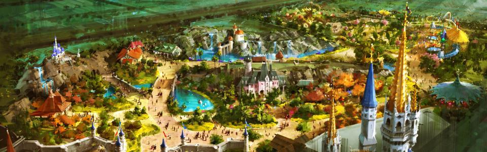绘画,艺术,城堡,嘉年华,城市,幻想,幻想