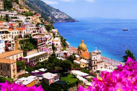 意大利,房屋,岩石,意大利,大教堂,阿马尔菲,城市,阿马尔菲