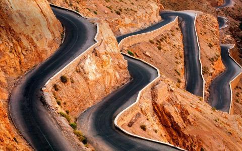 路,山,风险,摇滚