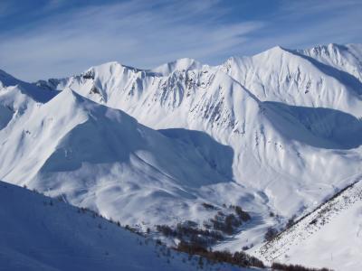 山,冬,雪,谷,雪堆