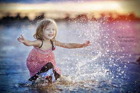 纳塔利娅·扎科诺娃,摄影师,女孩,积极,水,喷雾,喜悦