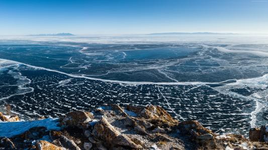 湖,贝加尔湖,冰,湖,贝加尔湖,冰,自然
