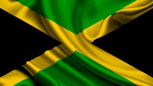 牙买加,国旗,牙买加