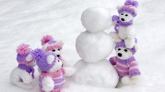雪人,冬天,玩具