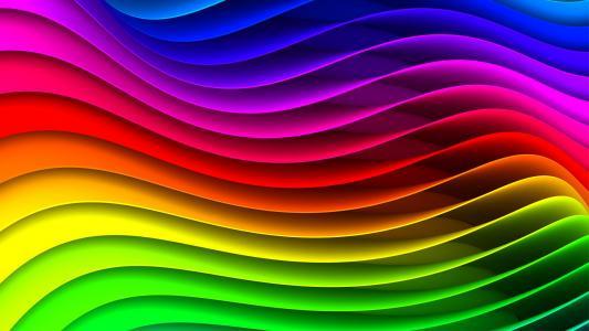 条纹,旋流,彩虹,光谱,波浪