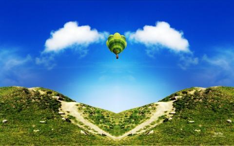亲,艺术,照片,气球