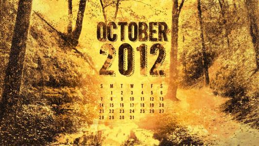十月,一个月,秋天,十月,日历
