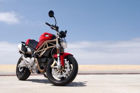 杜卡迪,自行车,摩托车,红色