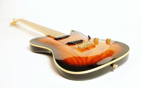 吉他,字符串,白色背景