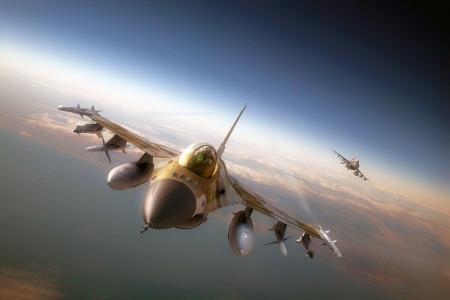 导弹,飞机,飞机,F-16,战斗机,F-16