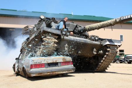 男子,坦克,机器,枪
