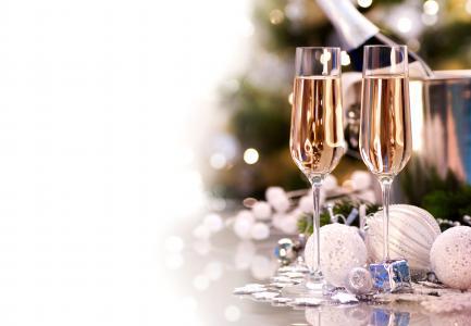 眼镜,圣诞节,白色,香槟,玩具,球