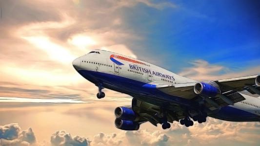 波音,机场,747,大型喷气式飞机,英国航空公司