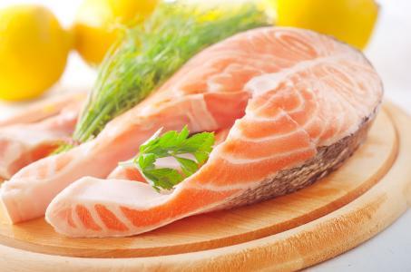 菜,食物,三文鱼,鱼,牛排