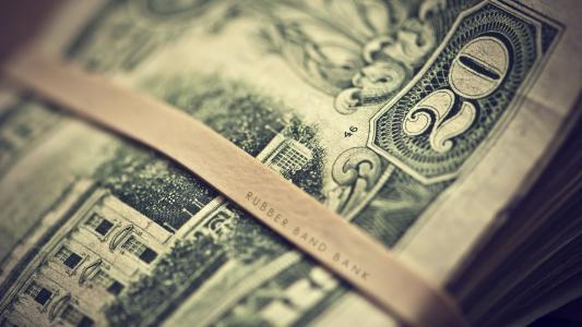 钱,题词,纸币,美元,宏观,美元,图