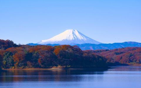 富士山的唯美景色
