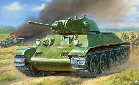 苏联,绘图,中型坦克,脂肪,Obr.1940,T-3476