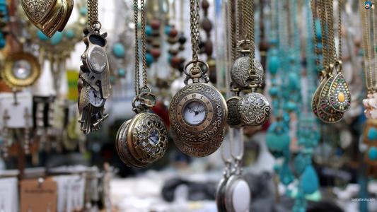 时钟,链,时间,老,拨号