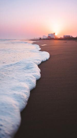 绝美海滩上的朝霞