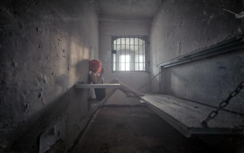 创意,环境,监狱,女孩