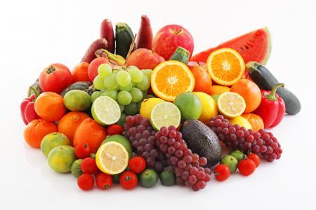 美味,蔬菜,水果,浆果,白色背景