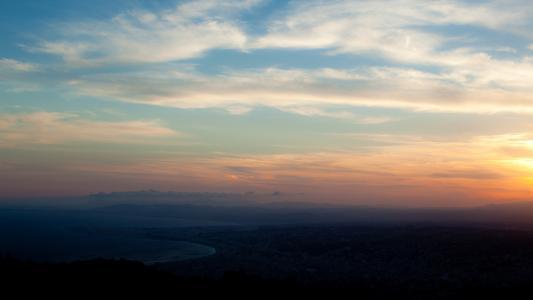 天空,宽屏,清晨,城市,光,全高清壁纸2560x1440