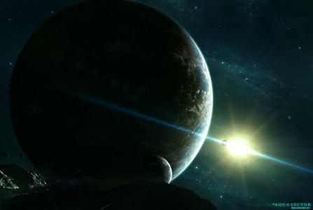 星星,星星,行星,太空,小行星,太空,卫星