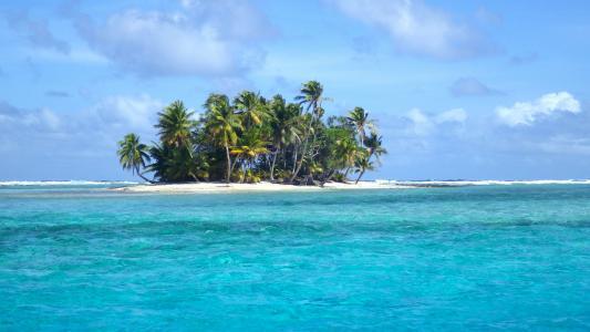 岛,海,海洋,岸,海滩,天空