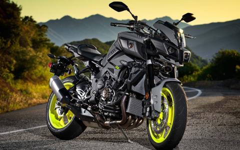 雅马哈,sportbike,道路,沥青,山,美丽,摩托车