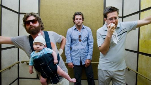 在拉斯维加斯的单身派对,孩子,牙医,胡子