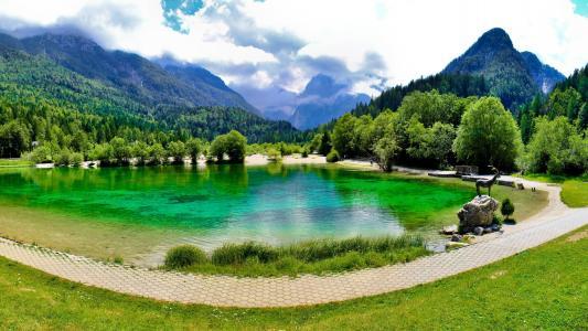 斯洛维尼亚,克拉尼斯卡,古拉,亚斯纳,湖,云,性质