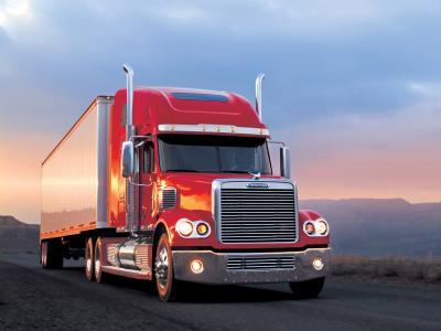 Freightliner,卡车,拖拉机,路,马车,美国,速度,路线