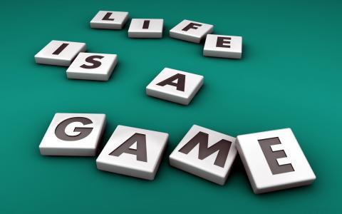 3d,字母,单词,人生游戏,生活是一场游戏,背景