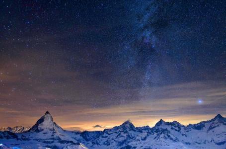 山,天空,夜晚,星星,银河系,美丽,天堂别致